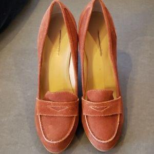 Talbots Corrine 2 heels NWOT penny loafer bootheel